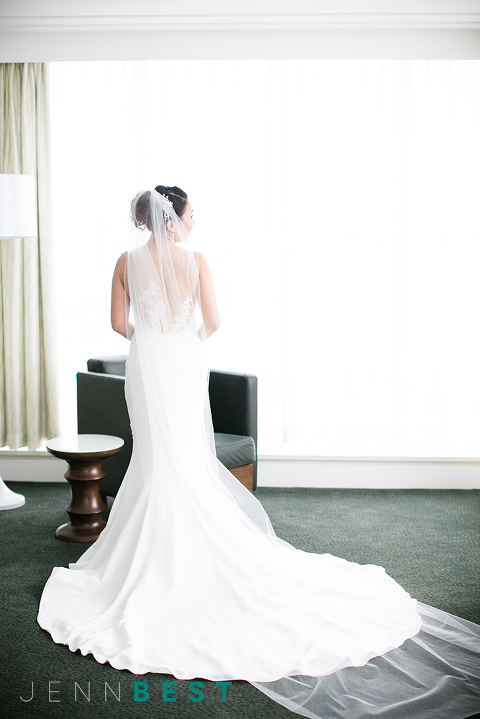 JENN BEST PHOTOGRAPHY, Vancouver Wedding Photographer, Vancouver Bride, Bride, Bridal Inspiration, Bridal Portrait, Wedding Dress Inspiration, Long veil, Sheer Back